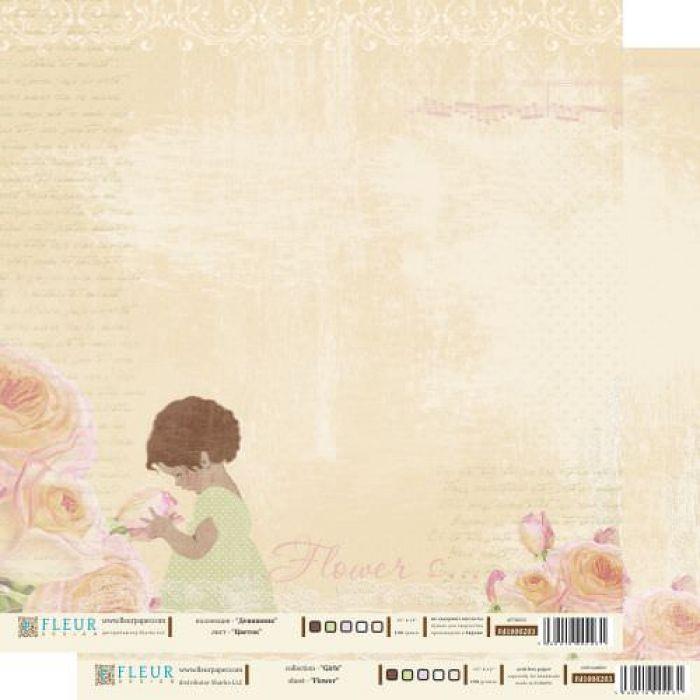 Бумага Цветок, коллекция девичник для скрапбукинга