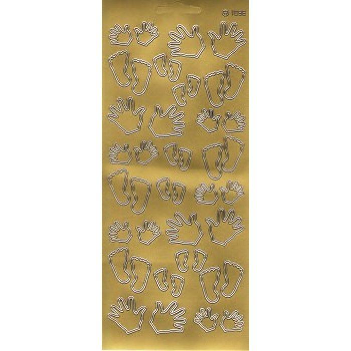 """Контурные наклейки """"Ручки/ножки"""", цвет золото для скрапбукинга"""