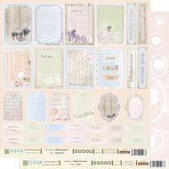 Бумага карточки из коллекции шебби прованс