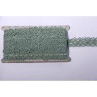 Тесьма кружевная со сборкой зеленая, 3 см