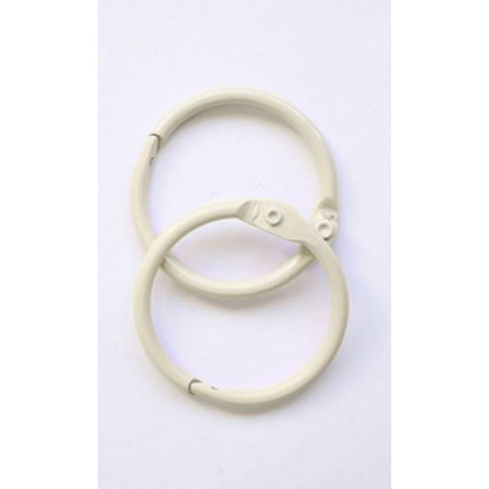 Кольца для альбомов 2 шт слоновая кость 40 мм для скрапбукинга