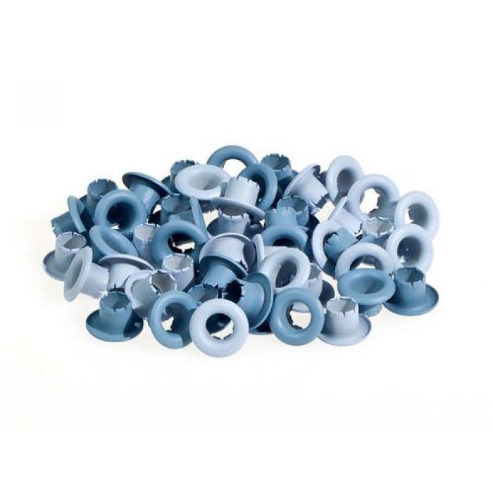 Набор голубых люверсов 4,8 мм для скрапбукинга