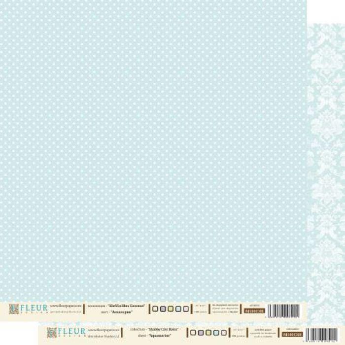 Бумага аквамарин из коллекции шебби шик базовая для скрапбукинга