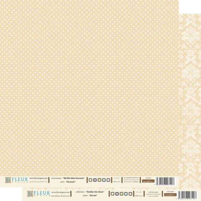 Бумага бисквит из коллекции шебби шик базовая для скрапбукинга