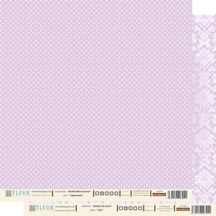 Бумага сиреневый из коллекции шебби шик базовая для скрапбукинга