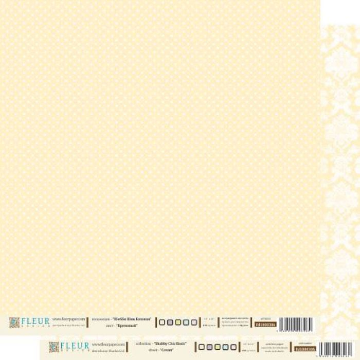 Бумага кремовый из коллекции шебби шик базовая для скрапбукинга