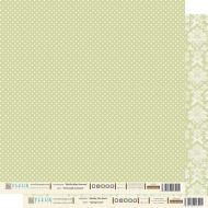 Бумага весенний зелёный из коллекции шебби шик базовая