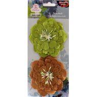 Цветы бумажные Зеленый и коричневый
