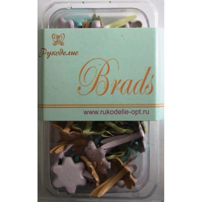 Набор брадс Цветы пастельные для скрапбукинга