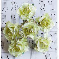 Жёлтая роза садовая с глиттером