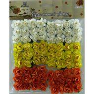 Набор цветов Розы бело-желто-оранжевые