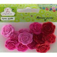 Набор пуговиц  Яркие розы