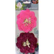 Цветы бумажные Розовый и красный