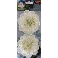 Цветы бумажные Белые