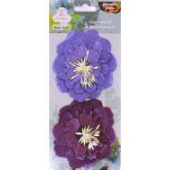 Цветы бумажные Сиреневый и фиолетовый