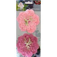 Цветы бумажные Розовые