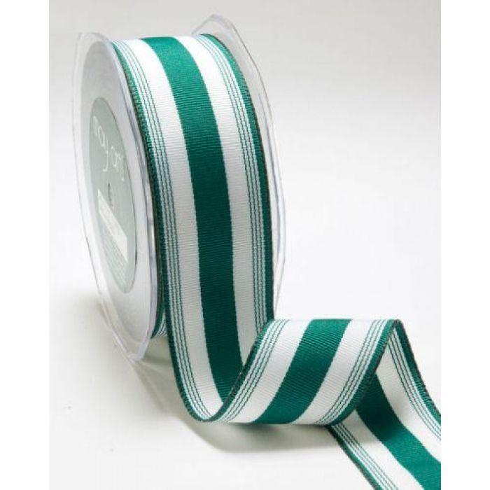 Лента бело-зеленая для скрапбукинга