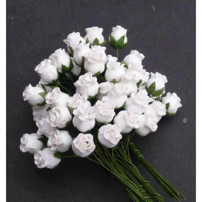 Бутоны роз белые для скрапбукинга