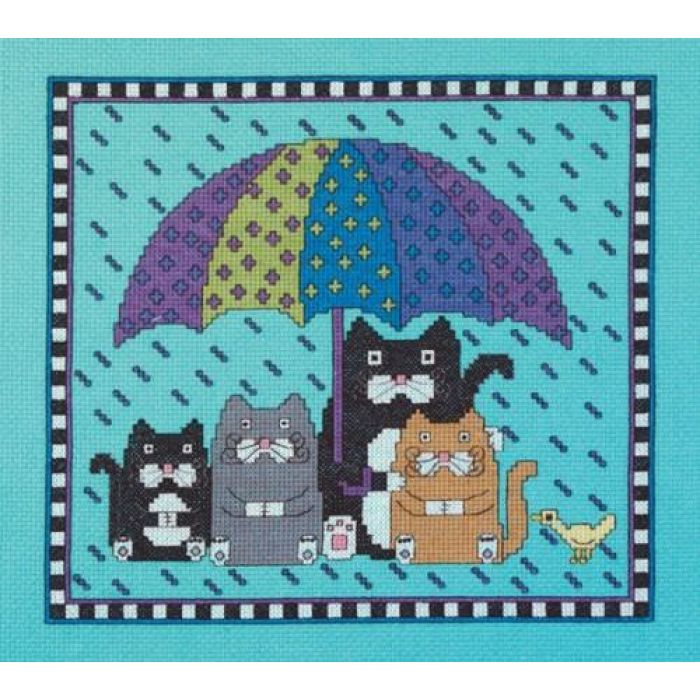 """Набор для вышивания """"Дождь, иди прочь"""" для скрапбукинга"""