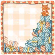 Бумага гора подарков из коллекции рыжий кот