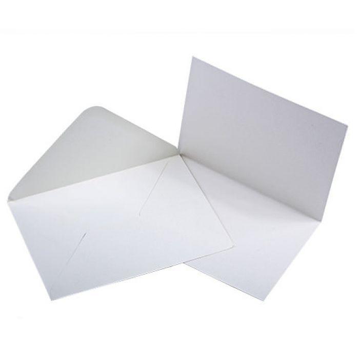 Заготовка для открытки с конвертом А6, слоновая кость для скрапбукинга