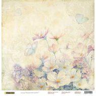 Бумага Полевые цветы, коллекция Акварельные цветы