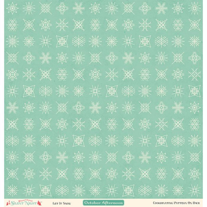 Бумага Let It Snow, коллекция Silent Night для скрапбукинга