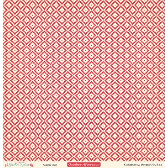 Бумага Sleigh Ride, коллекция Silent Night для скрапбукинга