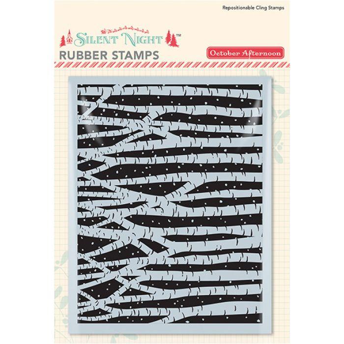 Штамп резиновый Birch, коллекция Silent Night для скрапбукинга