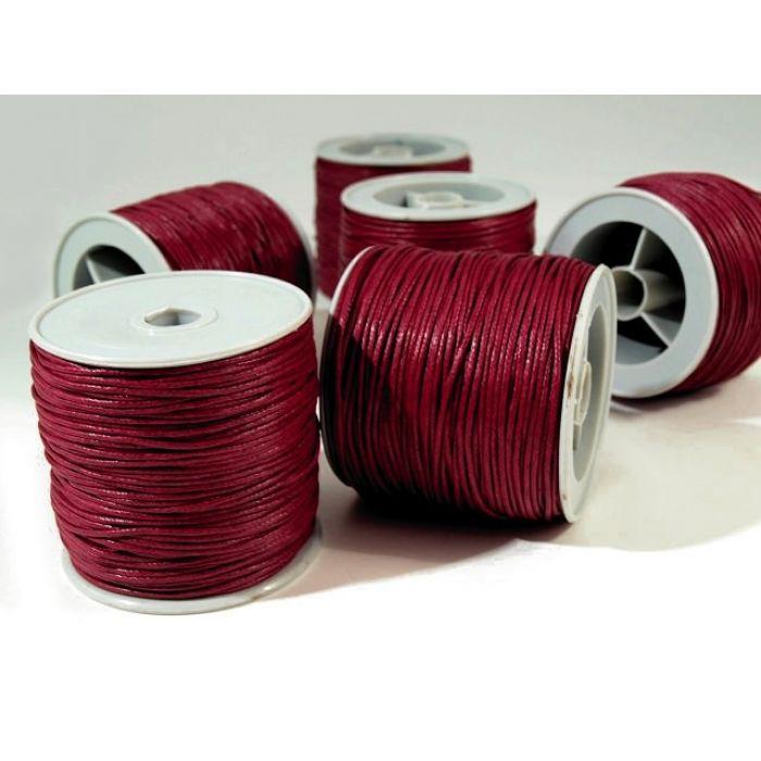 Бордовый вощёный шнур для скрапбукинга