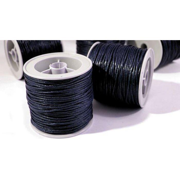 Сине-чёрный вощёный шнур для скрапбукинга