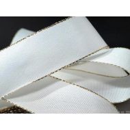 Лента тафтовая с люрексом белая, 25 мм