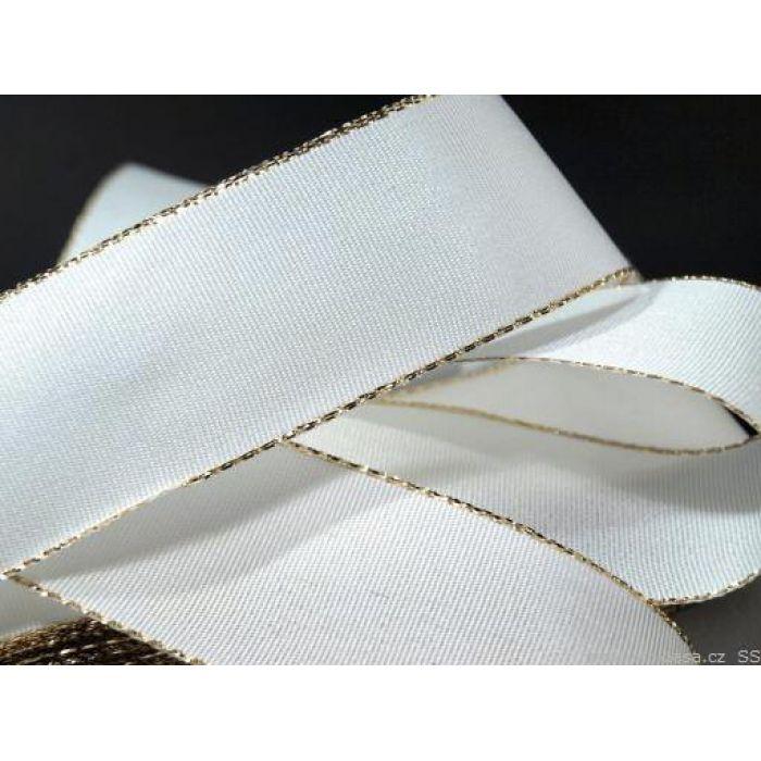 Лента тафтовая с люрексом белая, 25 мм для скрапбукинга