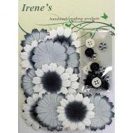 Набор цветов, бело-серо-черные