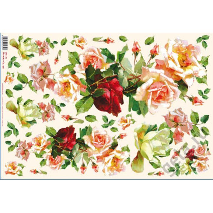 Бумага рисовая Модерн из роз