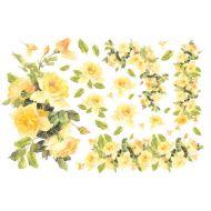 Бумага рисовая Желтые розы
