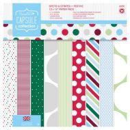 Набор бумаги Spots & Stripes Festive, 30 х 30 см
