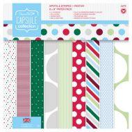 Набор бумаги Spots & Stripes Festive, 20 х 20 см