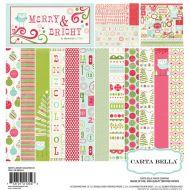 Набор бумаги 30х30 см, коллекция Merry and Bright