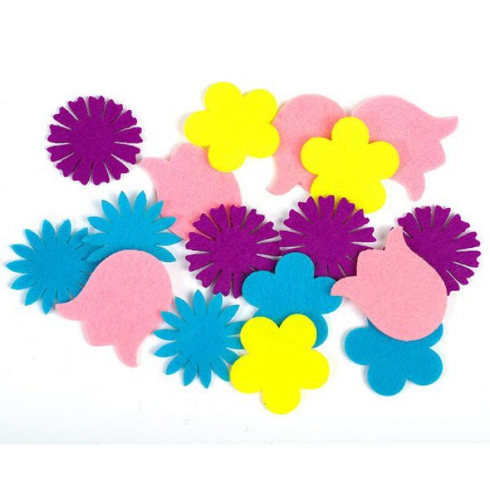 Набор украшений из фетра Цветы для скрапбукинга