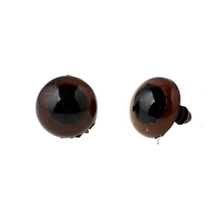 Глаза круглые винтовые полупрозрачные, 16мм для скрапбукинга