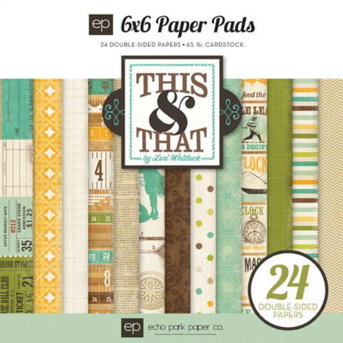 Набор бумаги 15 х 15 см, коллекция  This & That Charming для скрапбукинга