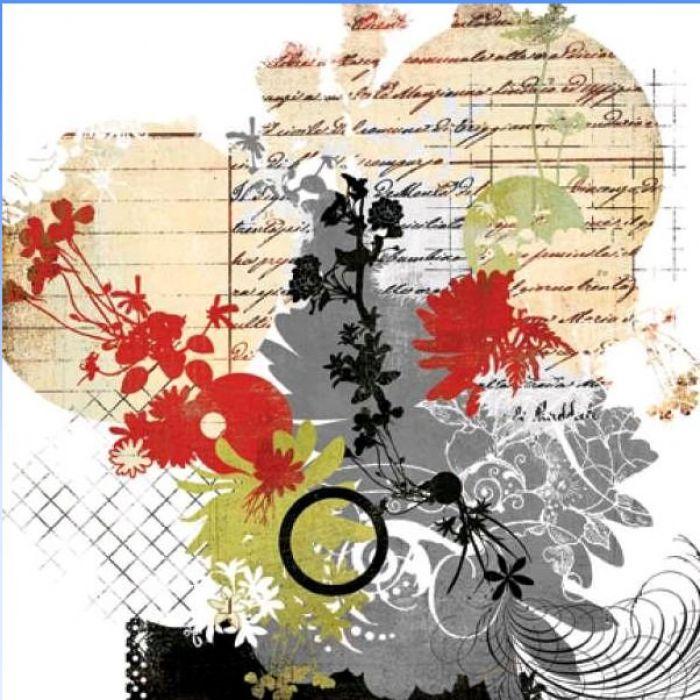 Бумага, коллекция  Scarlet's Letter, Secret для скрапбукинга