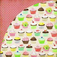 Бумага, коллекция  Nook and Pantry, Cupcakes