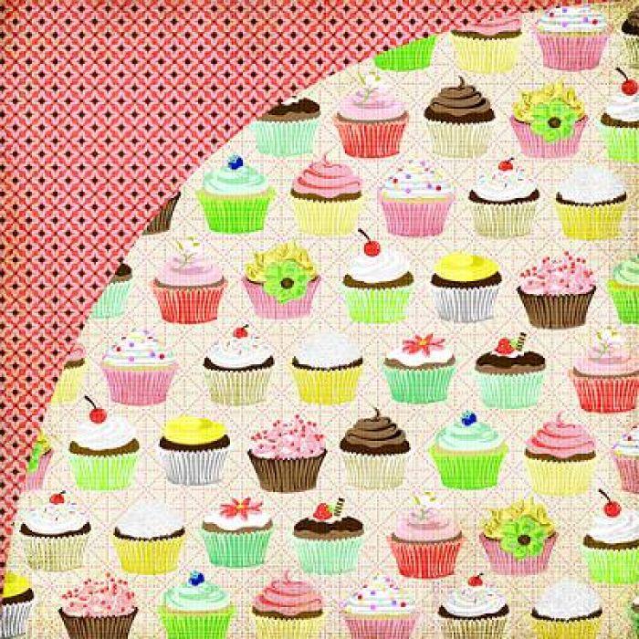 Бумага, коллекция  Nook and Pantry, Cupcakes для скрапбукинга