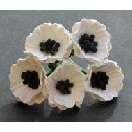 Цветы мака белые, 20 мм
