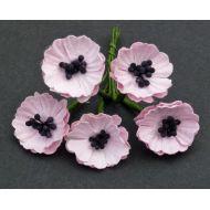 Цветы мака лиловые, 20 мм