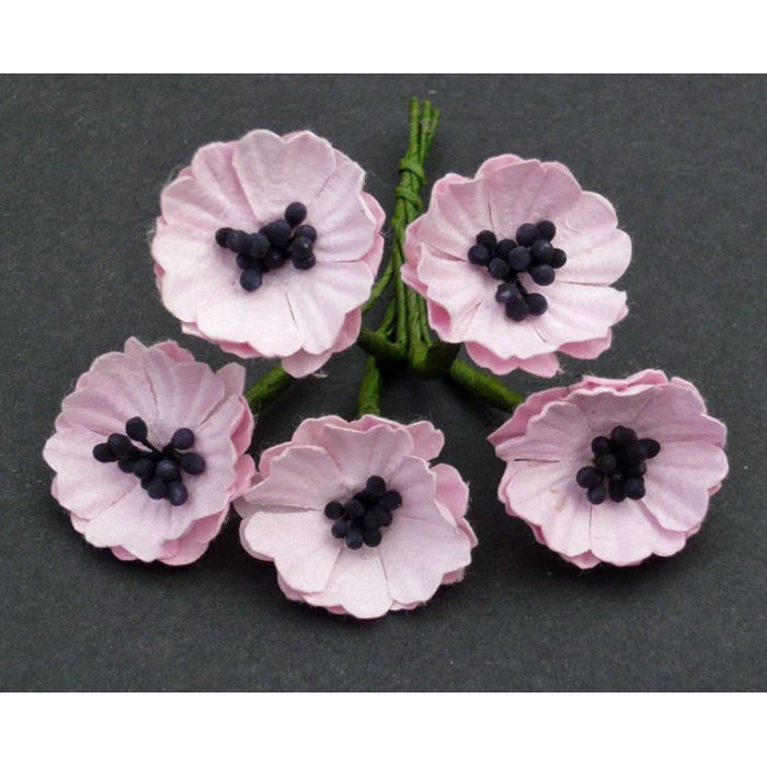 Цветы мака лиловые, 20 мм для скрапбукинга