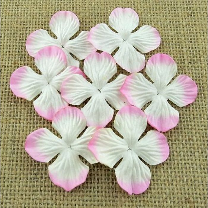 Гортензии бело-розовые (50 мм) для скрапбукинга