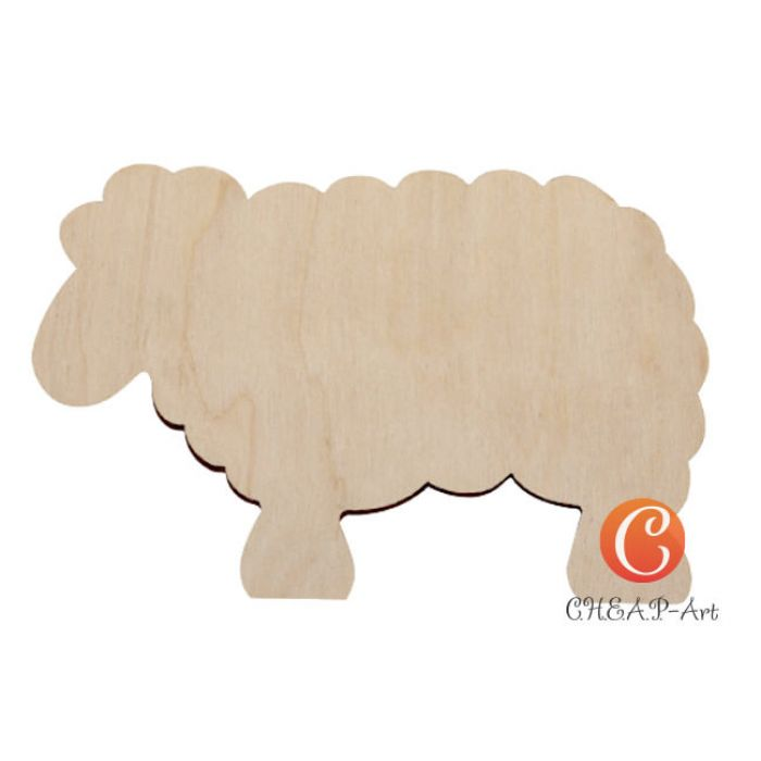 """Новогоднее украшение """"Задумчивая овечка"""" для скрапбукинга"""